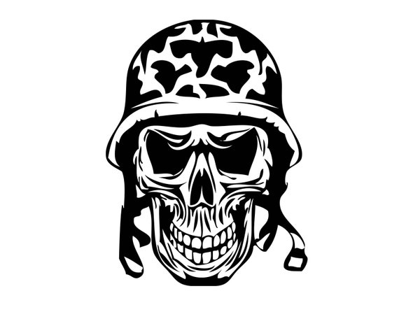 skull army helmet military war hero bones tattoo death biker etsy skull army helmet military war hero bones tattoo death biker gang motorcycle club grim logo svg png clipart vector cricut cut cutting