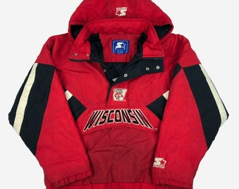 Vintage 1960/'s College Letterman Jacket Sz Large Red /& White Leather KEX Ed