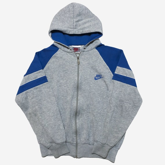 Nike full zip grey blue Hoodie. 19 pit