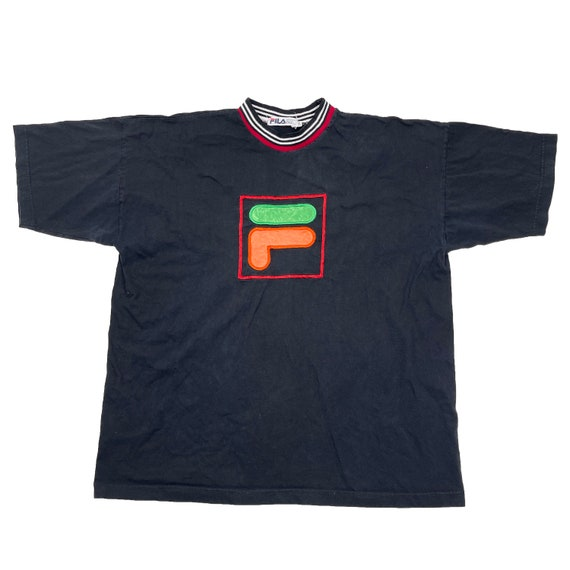 Vintage 90s Fila Embroidered T-Shirt - Mens 2XL |