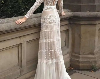 Boho Wedding Dress Etsy,Plus Size Rental Wedding Dresses