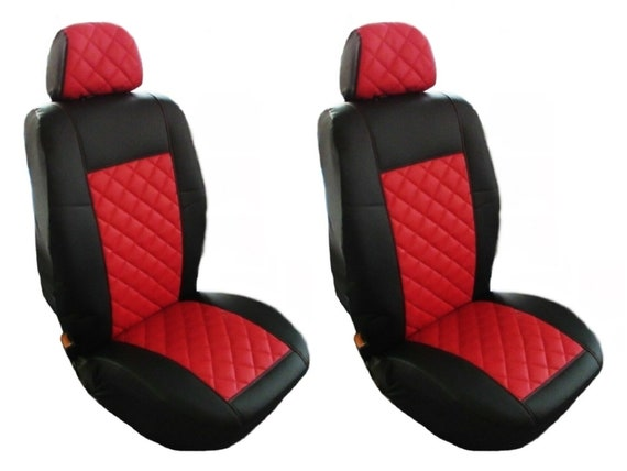 HEAVY DUTY LEATHER VAN SEAT COVERS DOUBLE FORD TRANSIT CUSTOM 2015 SINGLE