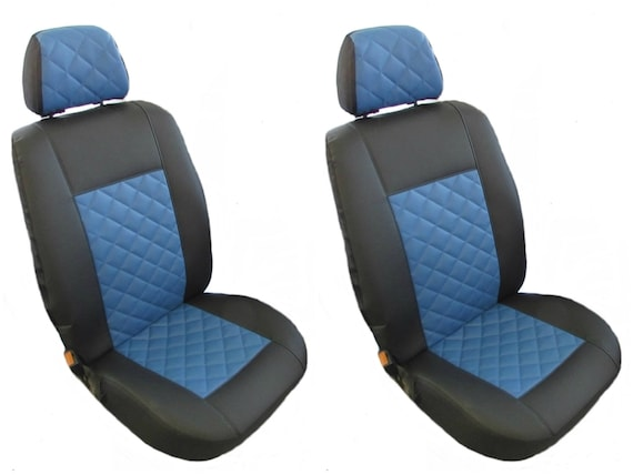 ECO LEATHER Seat Covers 2+1 BLACK GRAY Transporter T5 T6 after 2004 LEFT or RIGHT HAND DRIVE 1 single 1 double