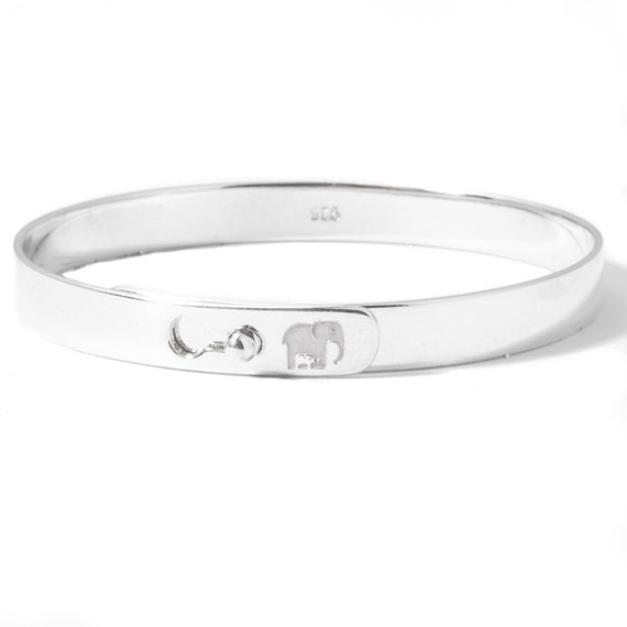 NEW Baby Boy // Girl Torque ID Bangle UK Made 925 Solid Sterling Silver