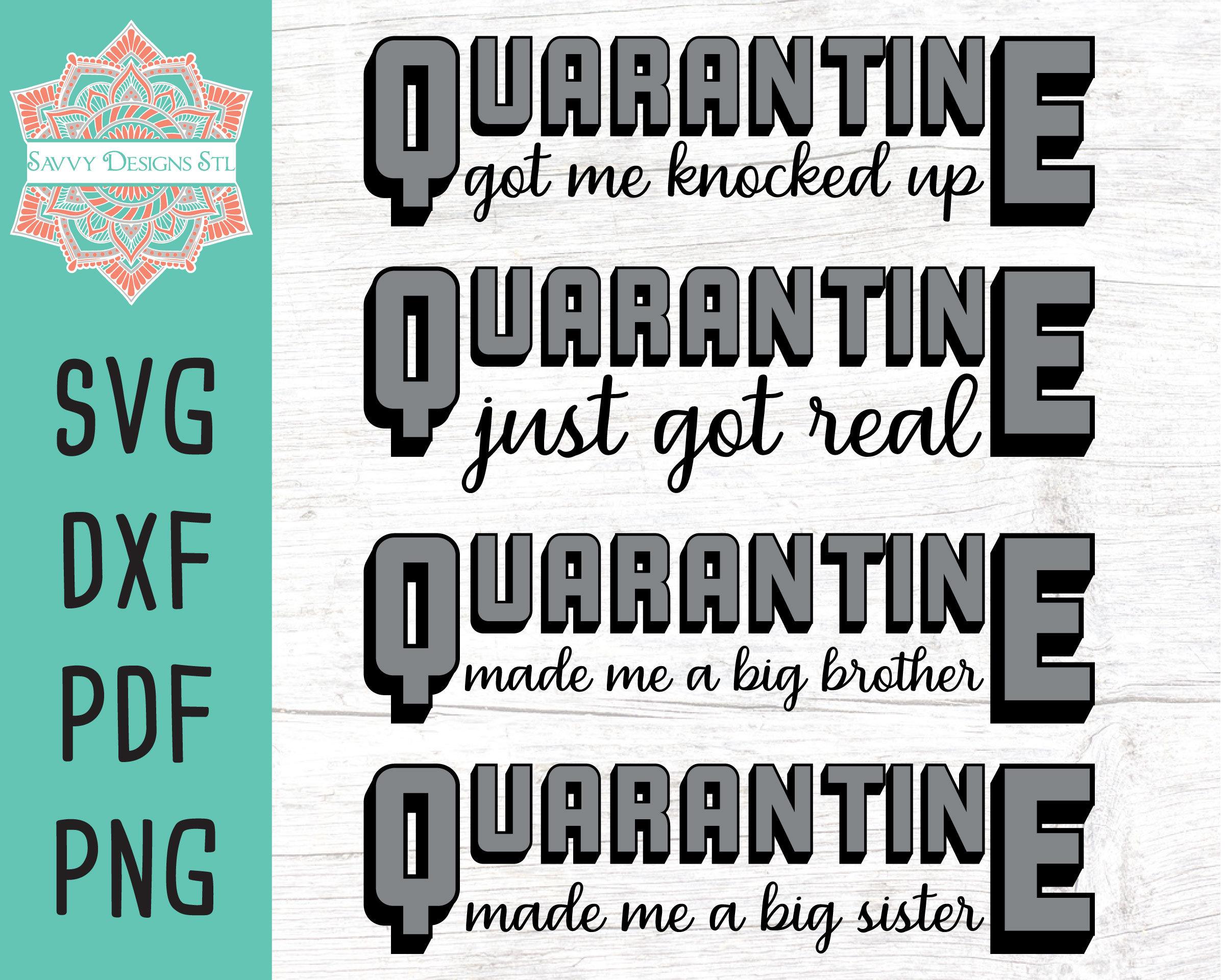 Cricut lockdown Silhouette cut file Quarantine humor svg bundle