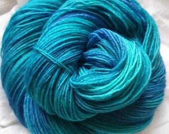 Twinkle Sock fingering weight sock yarn Azure