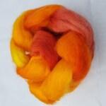 Masham - Hand Dyed Wool Tops/Roving - 50g - SUMMER HEAT - British Wool