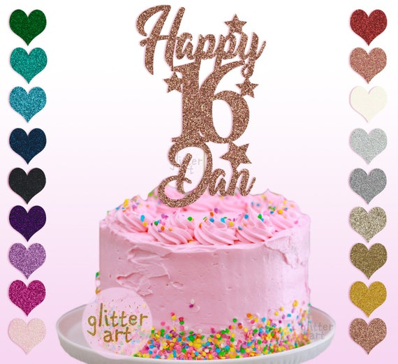 Cool Personalised 16Th Birthday Custom Cake Party Topper Boy Any Etsy Funny Birthday Cards Online Chimdamsfinfo