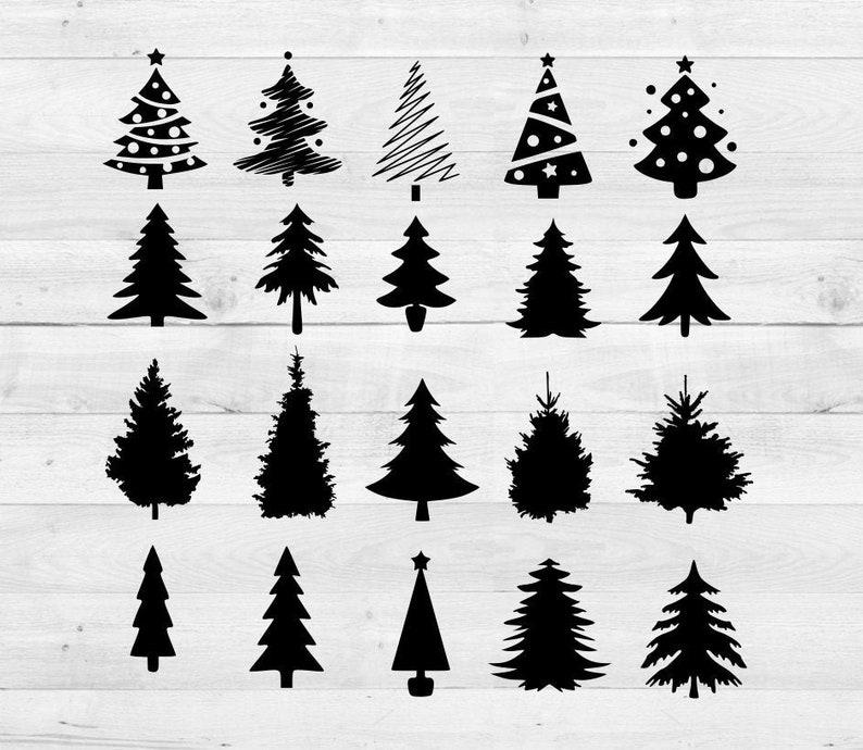 Christmas tree svg eps dxf bundle Christmas tree sIlhouettes Christmas tree cut Christmas tree clipart xmas cuttable cricut