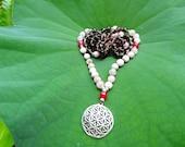 Joyful LOVE Mala - 108 beads - Opal, Quartz, Turmaline