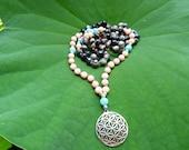 Invite LOVE Mala - Coral, Jasper, Amazonite - 108 beads