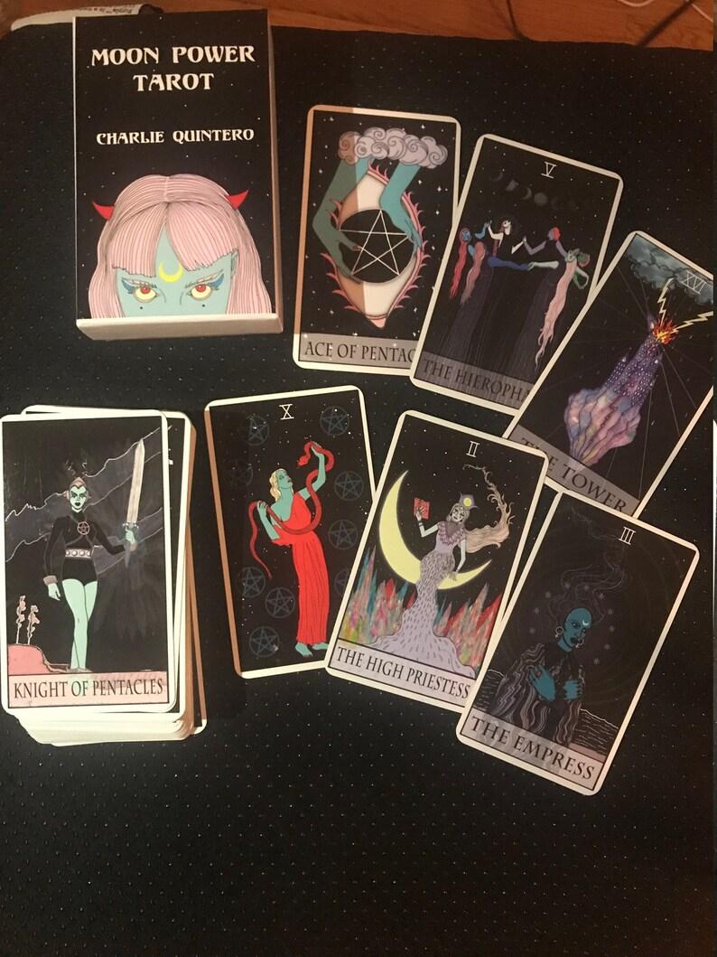 Tarot Reading Moon Power Tarot Deck One Card Pull