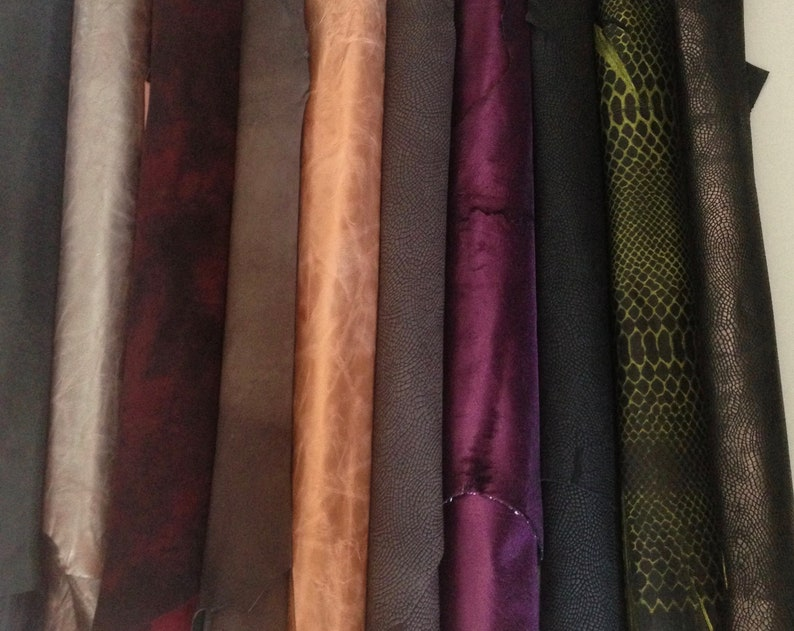 1 mm Italian leather Leather Genuine goat leather hide Leather material for sewing