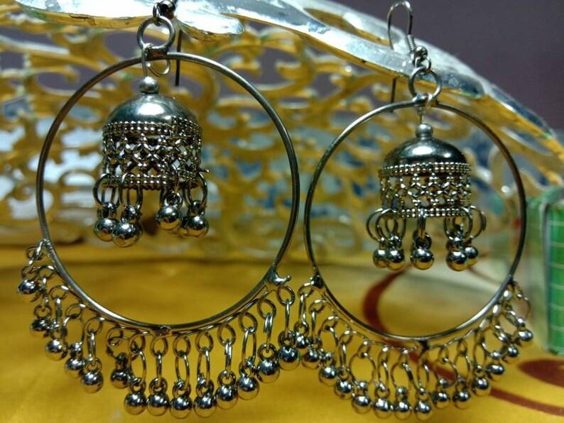 66ec5e3a314b1 Indian earrings / jhumki of amazing multi black colour