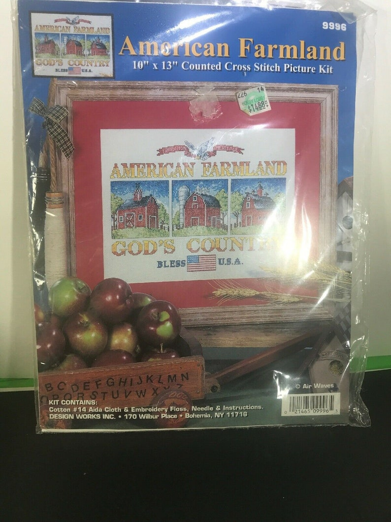 American Farmland Counted Cross Stitch Kit by Air Waves #9996 10 x 13