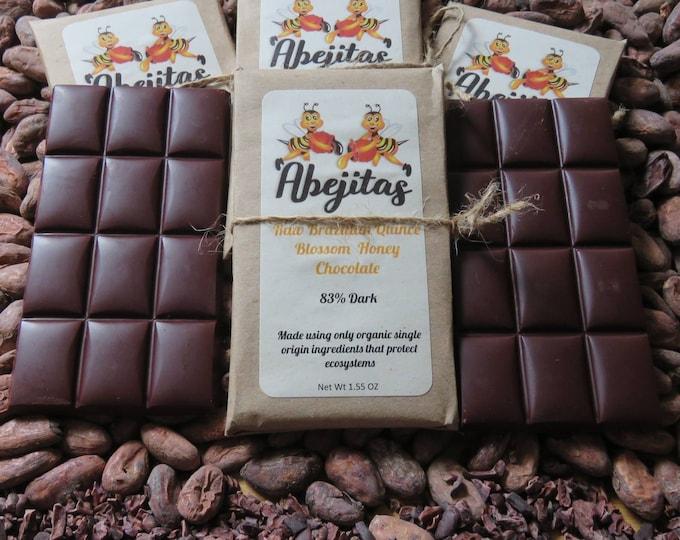 85% Dark | Abejitas Raw Honey Chocolate | 4 Bars | Organic, Paleo, Refined Sugar-free, No Additives, Dairy, Soy, Gluten & GMO Free