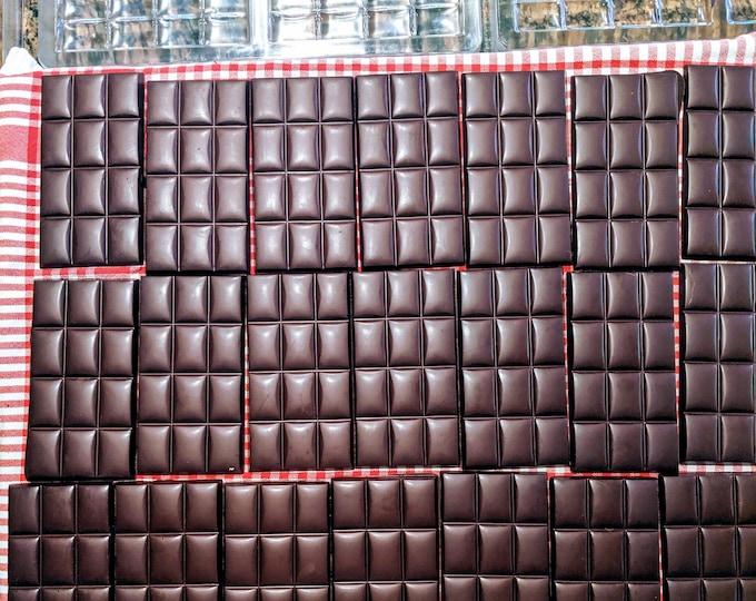 Abejitas Wholesale Raw Honey Chocolate | 76-85% Dark | 24 bars | Organic, Paleo, Refined Sugar-free, No Additives, Dairy, Soy, & Gluten Free