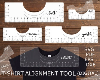 T Shirt Alignment Etsy