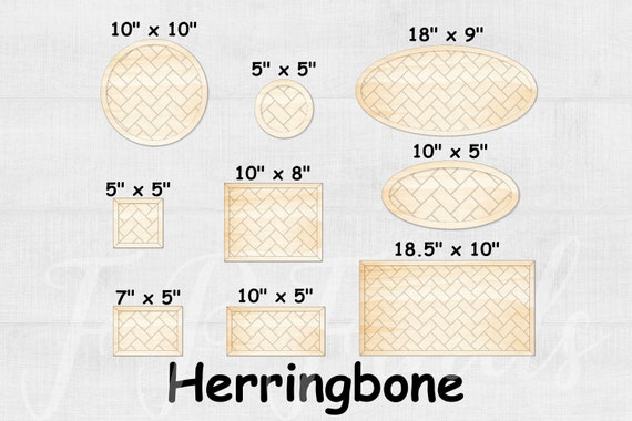 Glowforge Svg File Herringbone Pattern Farmhouse Frames Svg Etsy