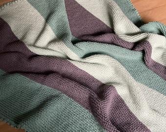Large knitted baby blanket, children's blanket - handmade