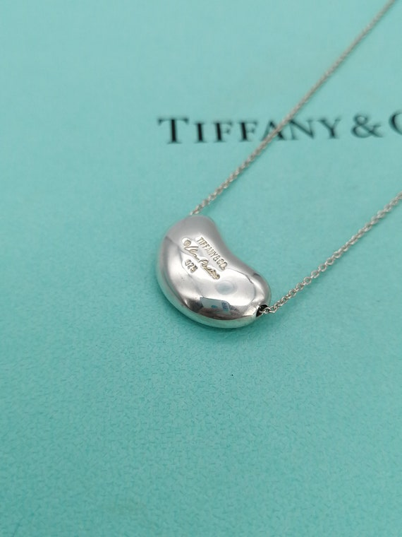 Authentic Tiffany & Co. Elsa Peretti Bean Necklace