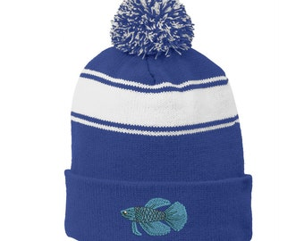 Ink Stitch USA Standard Embroidered Winter Skull Beanie Hats 9 Colors