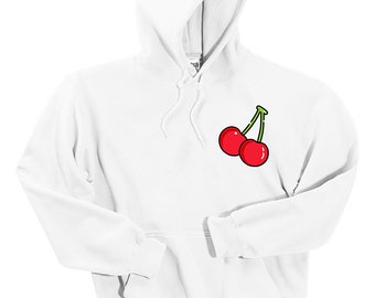 Cherry Pickin Pullover S,M,L,XL Camping Top Grey Hoodie