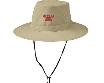 You Pick the Color and Fabric Choice Sun Hat-Louisiana Crab