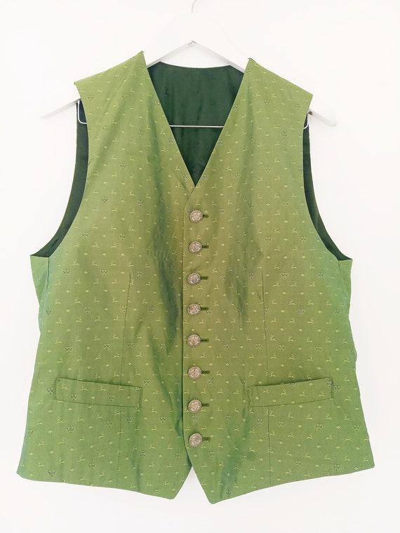 Vintage HABSBURG men's silk vest. Victorian men's