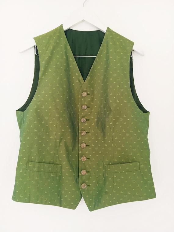 Vintage HABSBURG men's silk vest. Victorian men's… - image 8