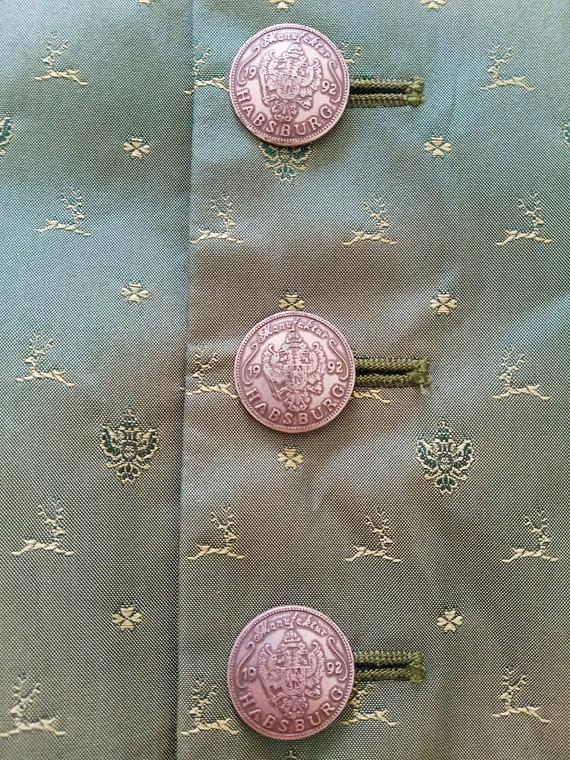 Vintage HABSBURG men's silk vest. Victorian men's… - image 4