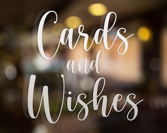 Cards and wishes decal, Wedding box, wedding card decals, cards and wishes box, cards decal for wedding, wedding decals, card table sign