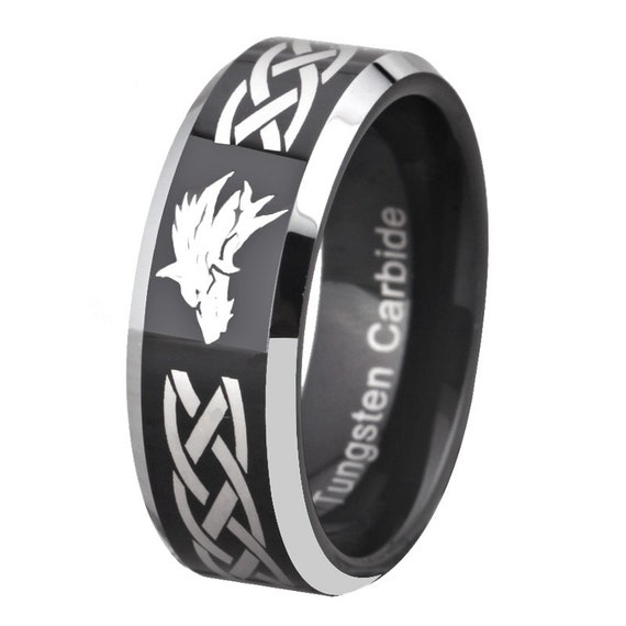 Legend of Zelda Triforce Design Tungsten Ring Men Women Couple Promise  Engagement Wedding Anniversary Gift Band Ring Jewelry