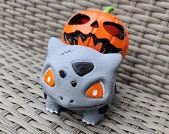 Halloween Pumpkin Zombie Bulbasaur