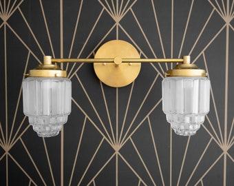 Vanity Light - Art Deco - Art Deco Fixture - Modern Art Deco - Skyscraper Shade - Mirror Light - Bathroom Vanity - Model No. 9777