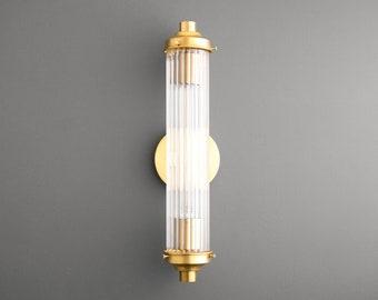Scalloped Tube Light - Art Deco Sconce - Art Deco Vanity - Wall Sconce - Bathroom Vanity Light - Modern Lighting - Model No. 5223