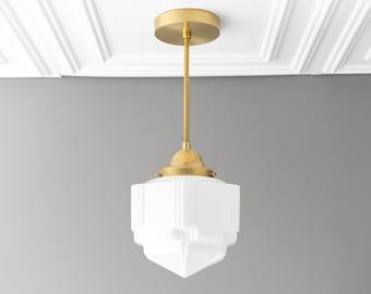 Skyscraper Shade - 1920s Lighting - Art Deco Pendant - Skyscraper Shade - Ceiling Light - Model No. 4126