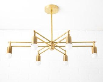 Sputnik Chandelier - Chandelier Lighting - Art Deco Chandelier - Unique Lighting - Dining Room Light - Kitchen Island - Model No. 0072