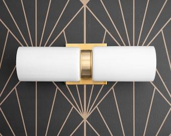 Glass Vanity Light - Art Deco Vanity - Vanity Lighting - Modern Vanity Light - Light Fixture - Model No. 6478