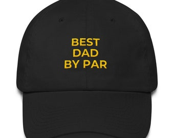 fbf7f8cf Best Dad by Par golf hat, Golf hat, Father's day golf gifts, Personalized  fathers day gifts, Golf gifts for dad
