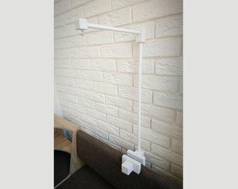 Wooden holder for baby crib mobile, Baby mobile wood arm, Nursery mobile crib hanger, DIY kit