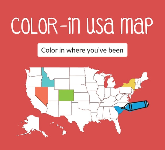 Color-In USA Map Printable - Color Where You\'ve Traveled