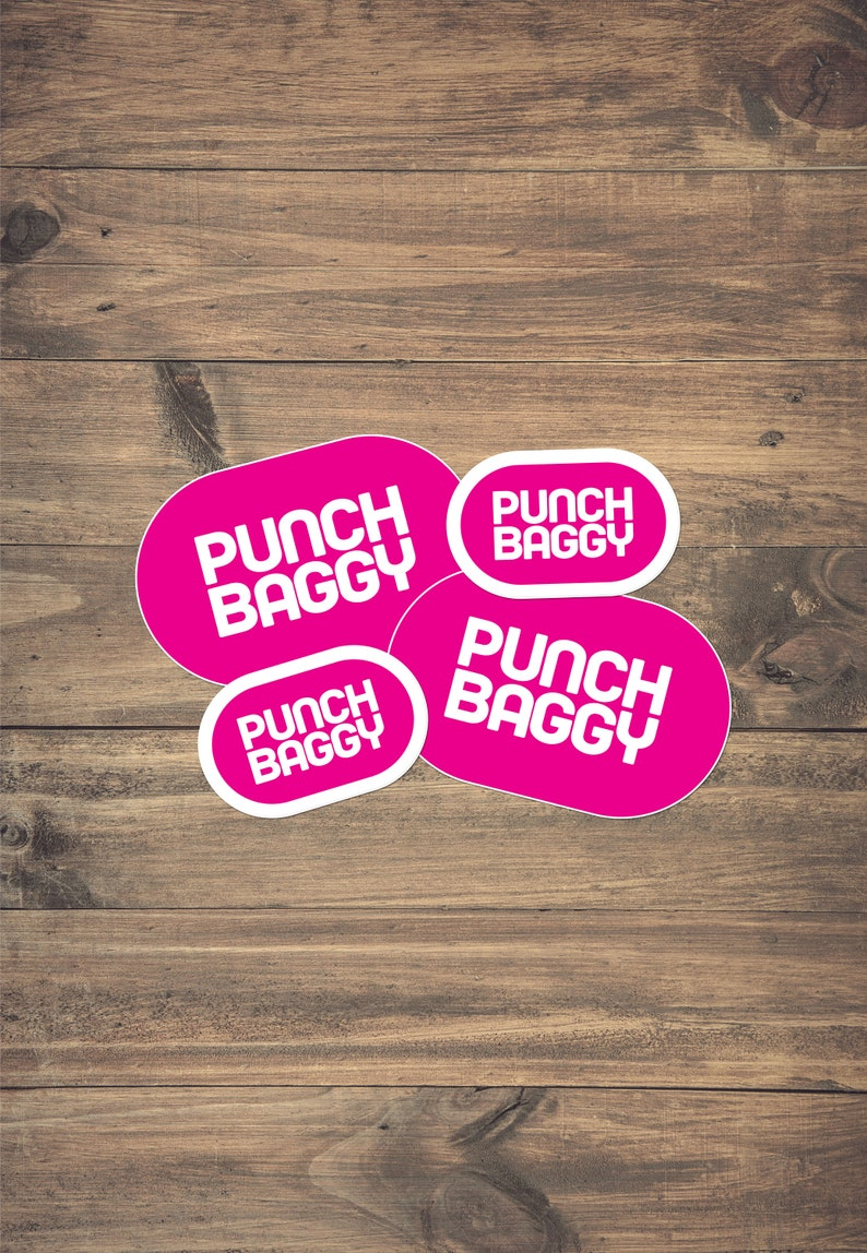 Pink Luggage Identification Sticker 4-Pack by Punch Baggy image 0