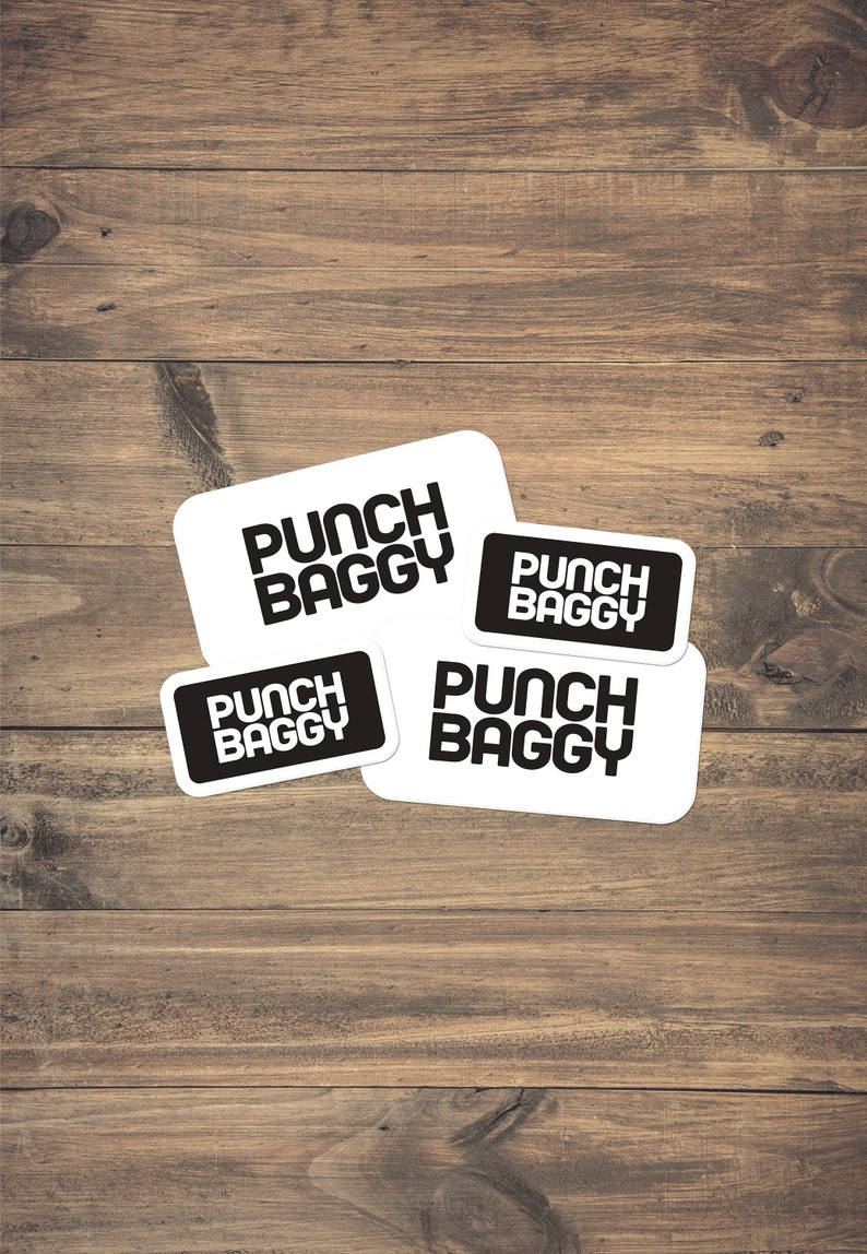 White Luggage Identification Sticker 4-Pack by Punch Baggy image 0