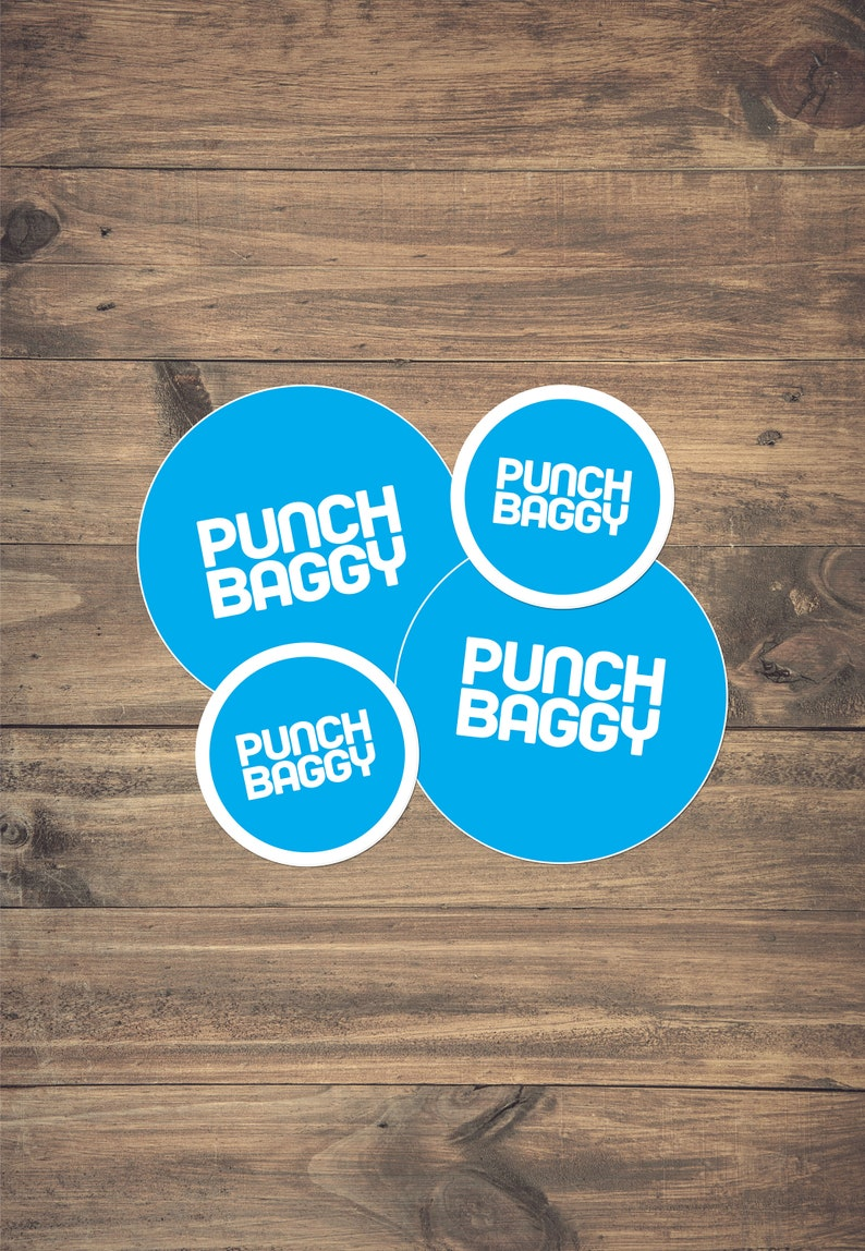 Blue Luggage Identification Sticker 4-Pack by Punch Baggy image 0