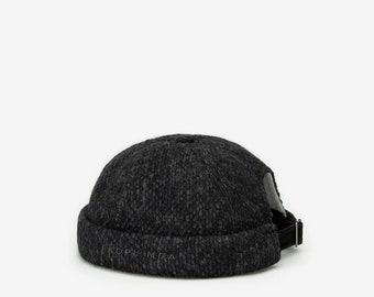 """Docker Cap """"Port"""" Knitted graphite"""