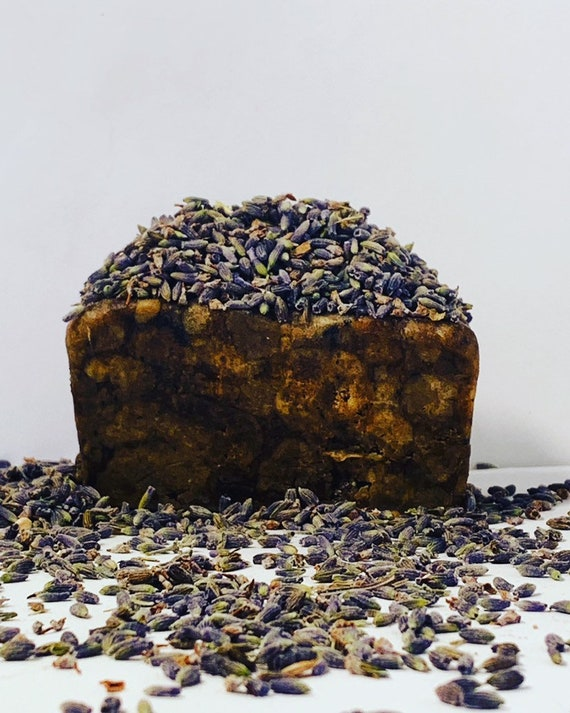 African Black Soap with Lavender flowers