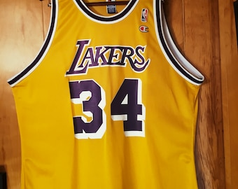 6d349b464 Los Angeles Lakers Shaquille O neal Champion Jersey Size 52 (XXL)