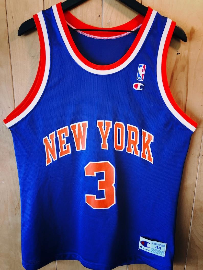 new concept 69abb 58e35 New York Knicks - John Starks - Champion Jersey - Mens Size L