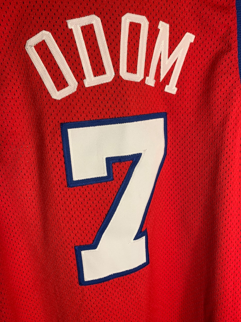Los Angeles Clippers Champion Jersey Lamar Odom Authentic Men\u2019s Size XL